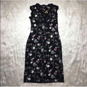 Guess Floral Lace Vintage Midi Dress